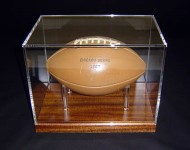 Football framed in an Acrylic Box