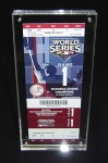 World Series Ticket framed in Acrylic