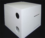 Acrylic white box with wholes